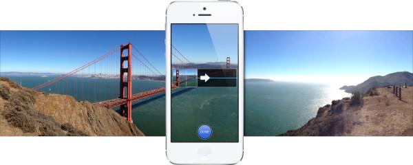 Как изменить направление съемки панорамы в iPhone