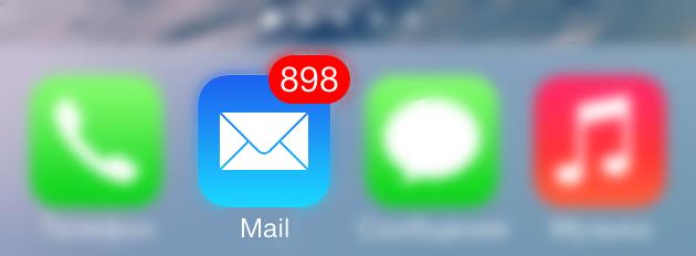 Как удалить все письма в Mail на iPhone