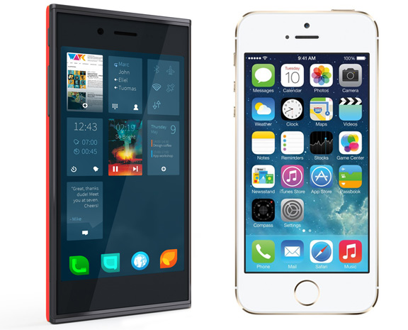 Jolla vs iPhone 5S