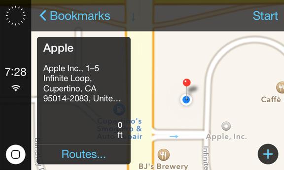 Приложение iOS in the Car