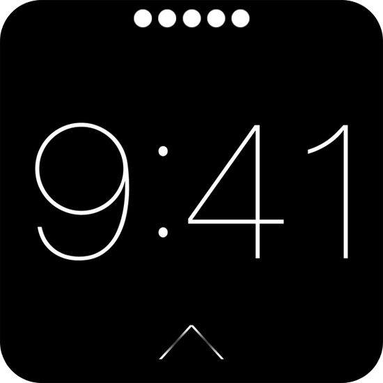 Скриншоты интерфейса iWatch