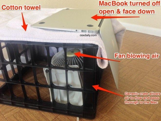 Что делать, если облил водой Macbook Air или Pro?