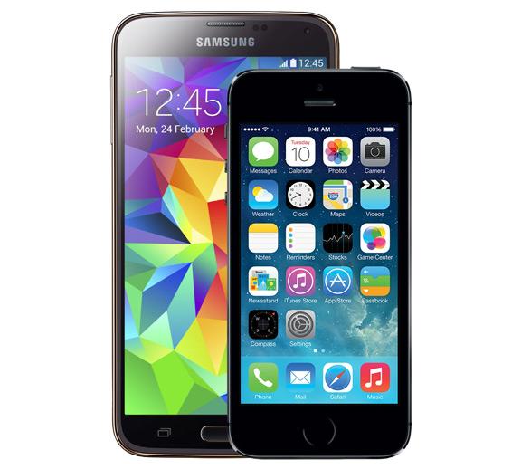 iPhone 5s лучше Samsung Galaxy S5