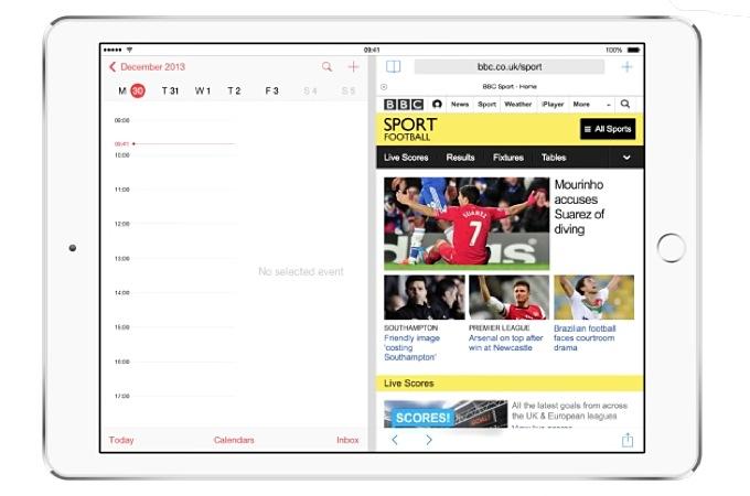 Многооконность в iOS 8 на iPad Air