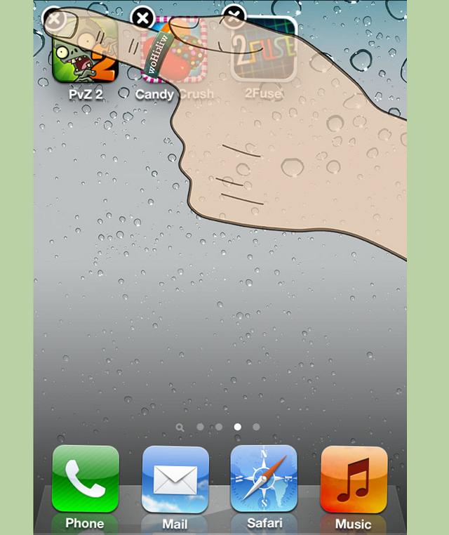 Как удалить программу из iPhone