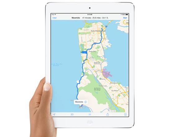 Apple обновляет карты по пятницам