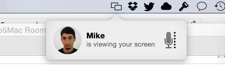 В OS X Yosemite можно расшаривать экран