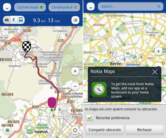 Offline карты Nokia для iPhone