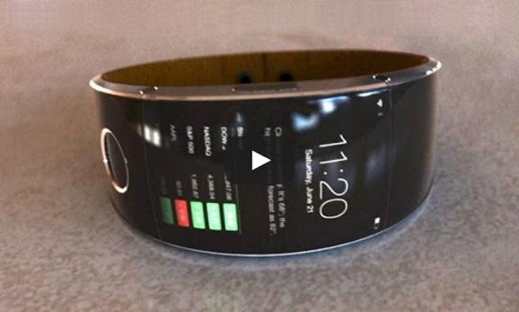 iWatch с включенным экраном