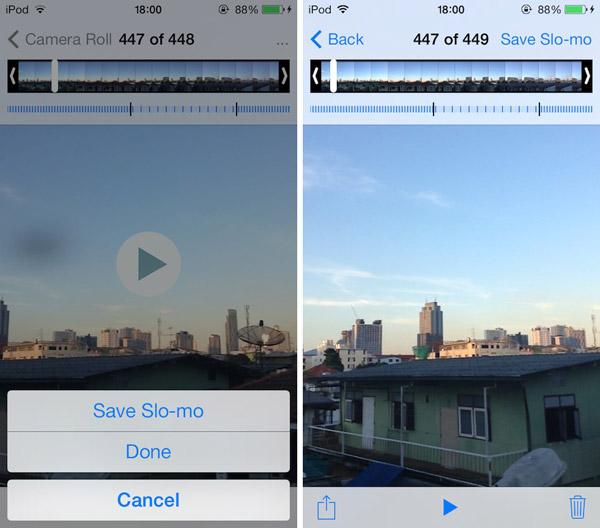 Режим замедленной съемки Slo-Mo на iPhone 5 и 4S