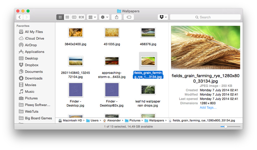 Как включить окно просмотра в Finder OS X