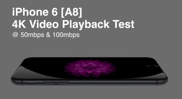 iPhone 6 и iPad Air 2 с процессором A8 поддерживают воспроизведение видео 4K