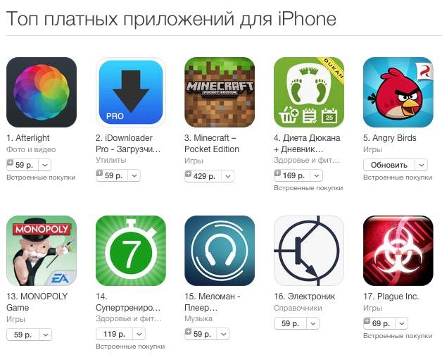 Apple снизила цены в AppStore