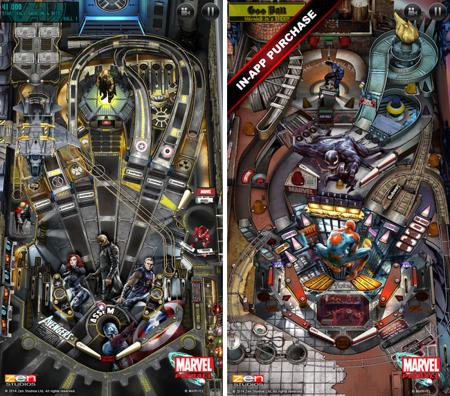 Marvel Pinball можно скачать бесплатно в App Store